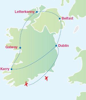 Anillo De Kerry Mapa.Anillo De Kerry Irlanda Espectacular Panavision Tours
