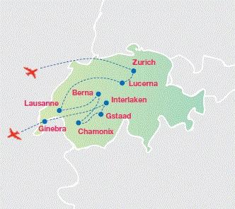 Ginebra Mapa tur stico para imprimir