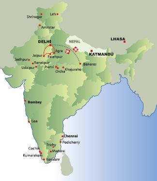 Cordillera Del Himalaya Mapa.Viajes A La Cordillera Del Himalaya Panavision Tours